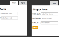 Tab Style Login and Signup with CSS