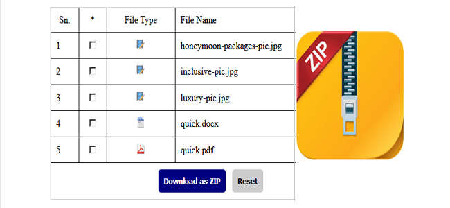 Creating ZIP File with PHP