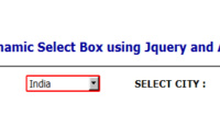 Dynamic Dependent Select Box using Jquery and Ajax