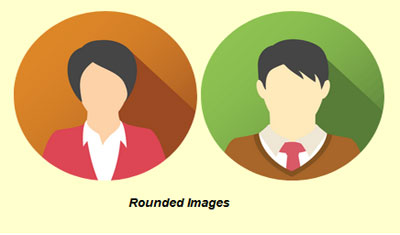 rounded and circular images with CSS
