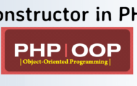 PHP OOP - Constructor